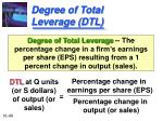 degree of total leverage dtl
