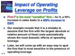 impact of operating leverage on profits8
