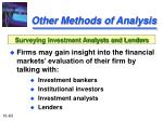 other methods of analysis63