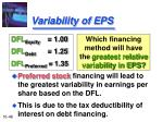 variability of eps