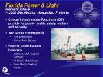 florida power light infrastructure 2006 distribution hardening projects
