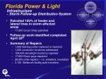 florida power light infrastructure storm follow up distribution system