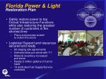 florida power light restoration plan