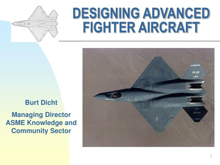 designing advanced fighter aircraft n.