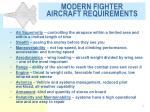 modern fighter aircraft requirements