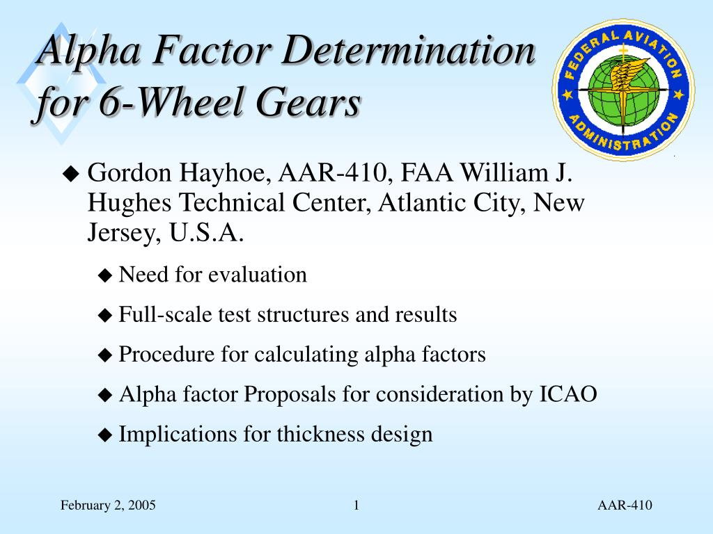 alpha factor determination for 6 wheel gears l.