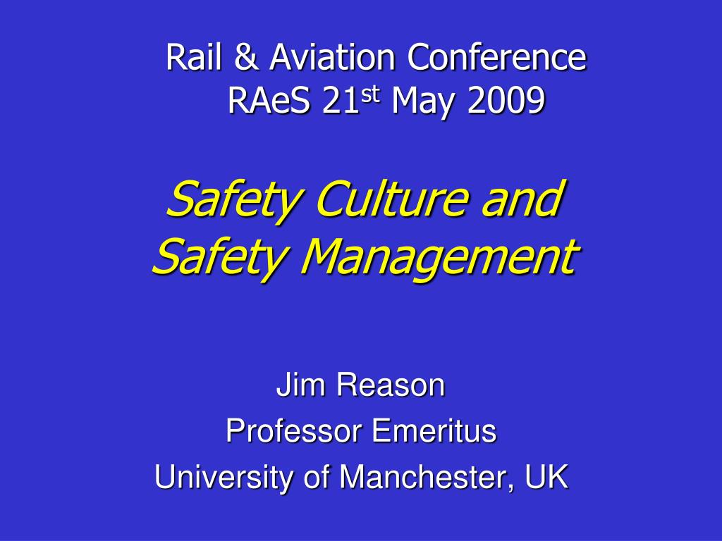 safety culture and safety management l.