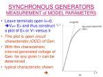 synchronous generators measurement of model parameters17