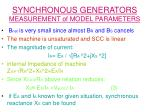 synchronous generators measurement of model parameters21