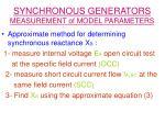 synchronous generators measurement of model parameters22