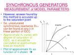 synchronous generators measurement of model parameters24