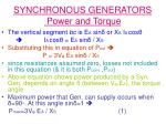 synchronous generators power and torque12