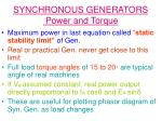 synchronous generators power and torque13