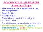 synchronous generators power and torque14