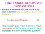 synchronous generators power and torque15
