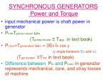 synchronous generators power and torque8