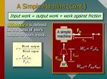 a simple machine cont