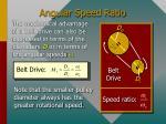 angular speed ratio