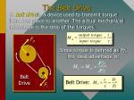 the belt drive