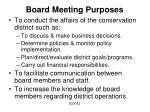 board meeting purposes