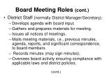 board meeting roles cont15
