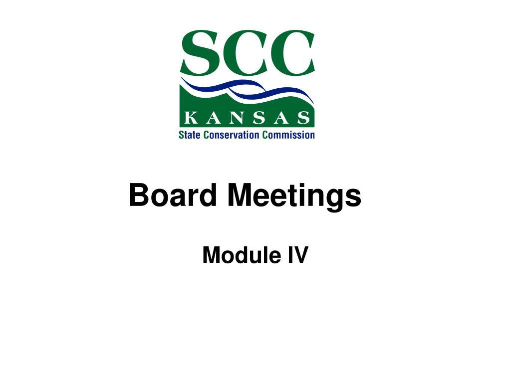 board meetings l.