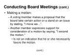 conducting board meetings cont19