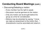 conducting board meetings cont20