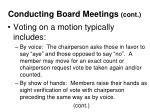 conducting board meetings cont21