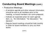 conducting board meetings cont23