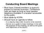 conducting board meetings