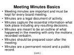 meeting minutes basics