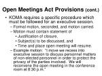 open meetings act provisions cont10