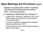 open meetings act provisions cont7