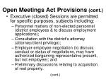 open meetings act provisions cont8