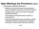 open meetings act provisions cont9