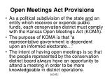open meetings act provisions