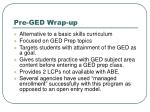 pre ged wrap up