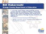 bill habermehl orange county department of education