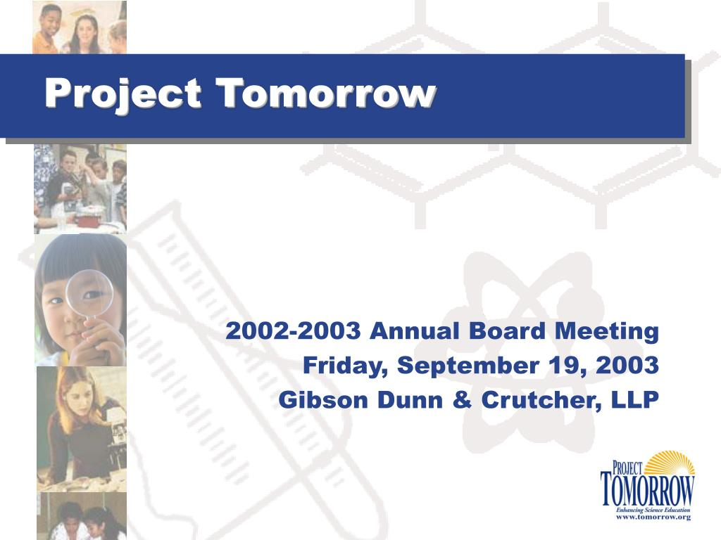 project tomorrow l.