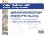 vivian goldschmidt distance learning consultant