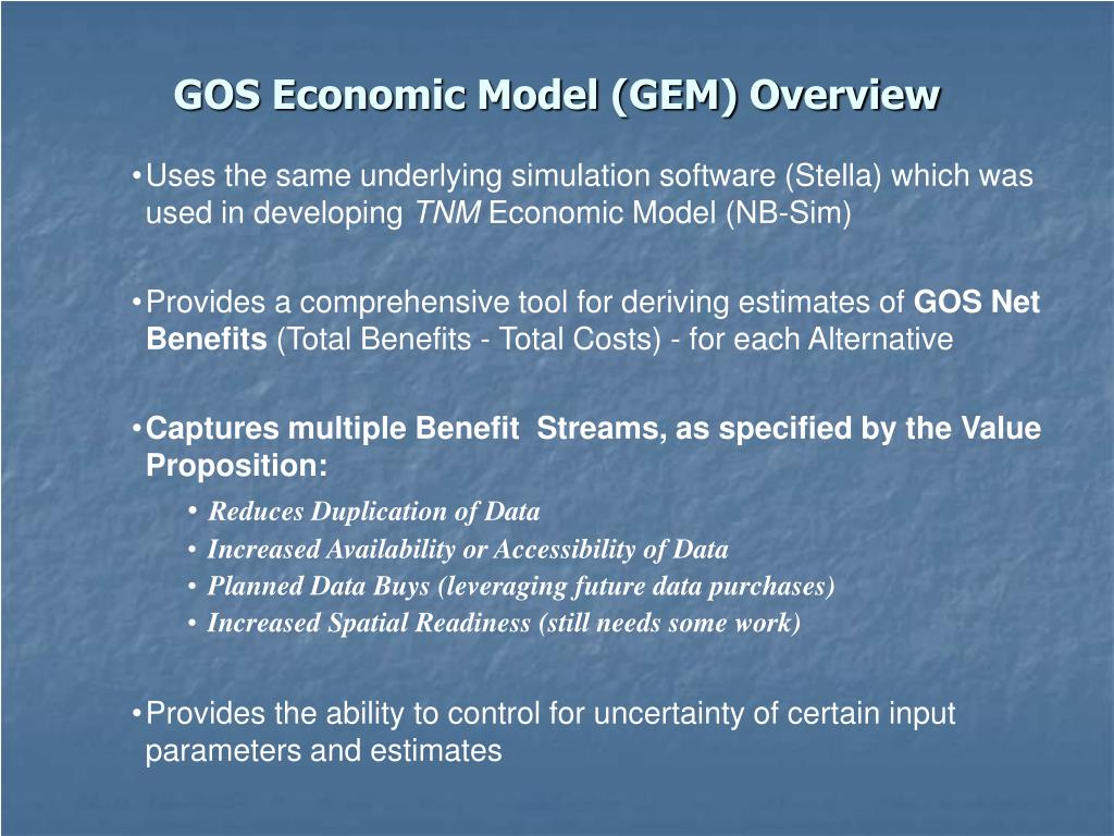 gos economic model gem overview l.