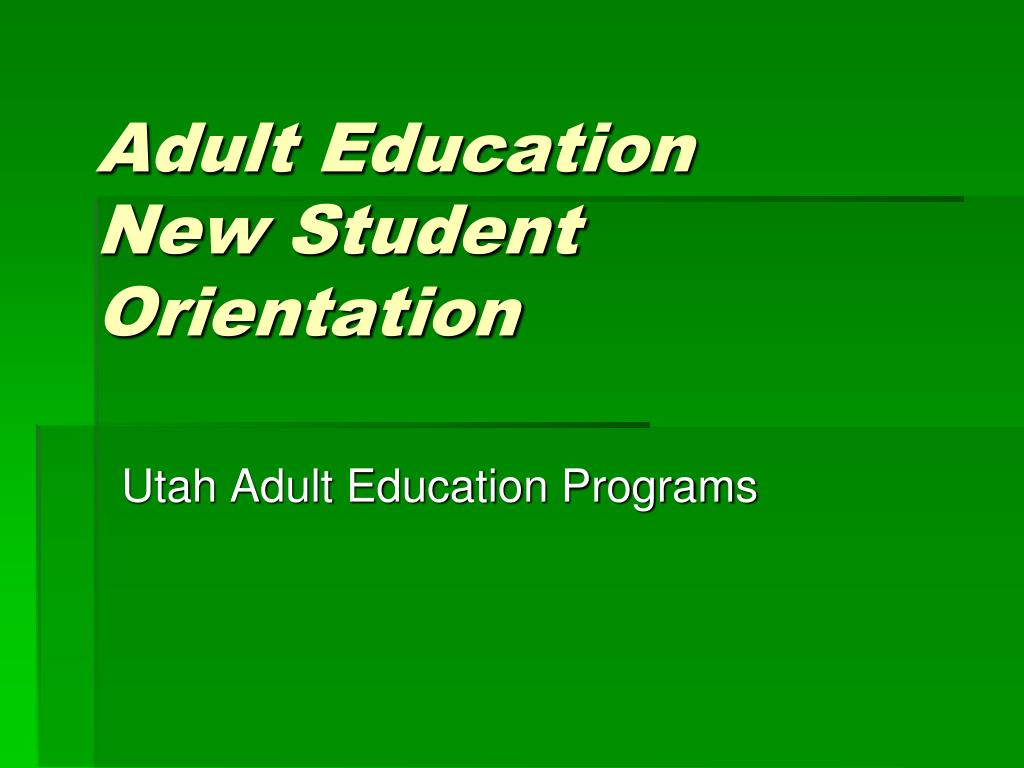 adult education new student orientation l.