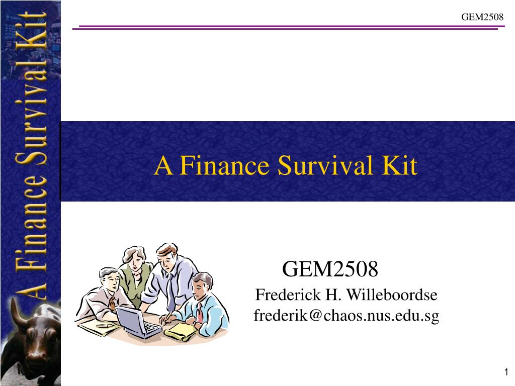 a finance survival kit l.