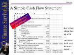a simple cash flow statement