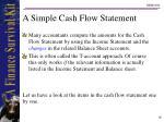 a simple cash flow statement18