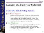 elements of a cash flow statement20