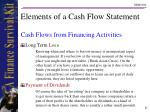 elements of a cash flow statement21