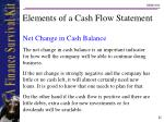 elements of a cash flow statement22