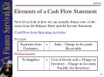 elements of a cash flow statement23